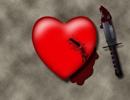 hemorragias: Corazón Apuñalado Foto de archivo