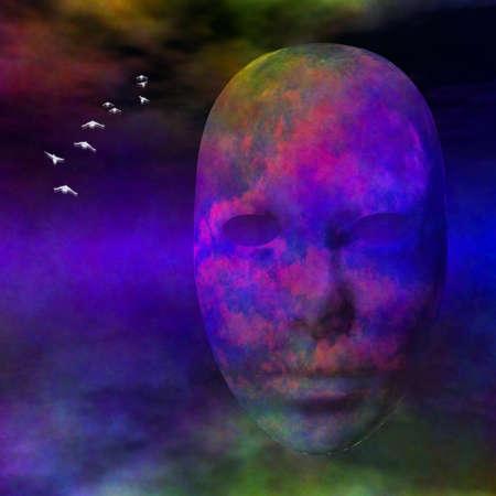 Drijvende gezicht Stockfoto - 16358201