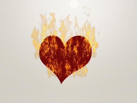 Burning heart Reklamní fotografie