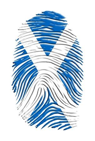 english culture: Scottland Fingerprint Stock Photo