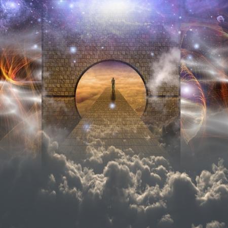 Man op spirituele reis