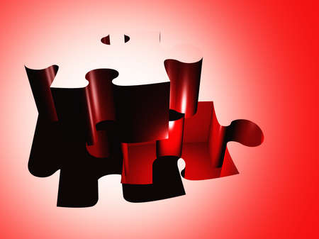 Puzzle piece composition Stock Photo - 17183350
