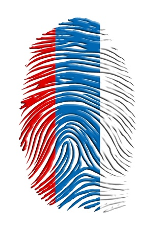 bandera rusia: Rusia huella digital Foto de archivo