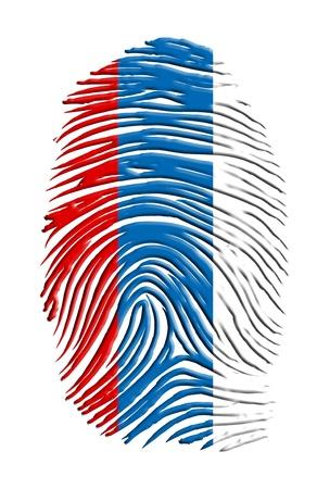 Russia fingerprint Stock Photo - 17183355