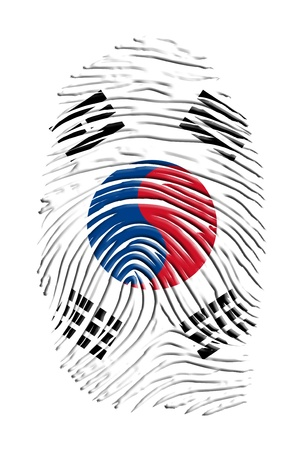 South Korean Finger print Stock Photo - 17183352