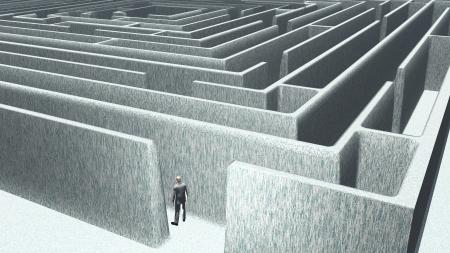 Man and maze Stock Photo - 17908022