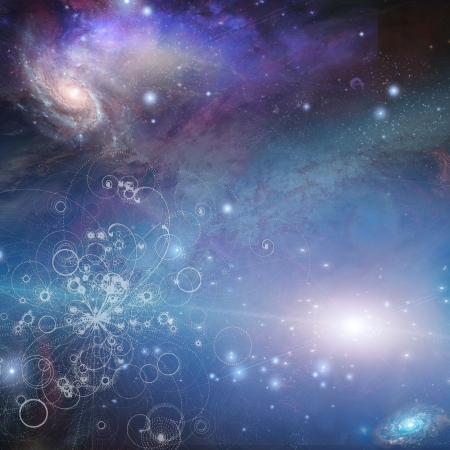 Burst of particles and cosmos photo