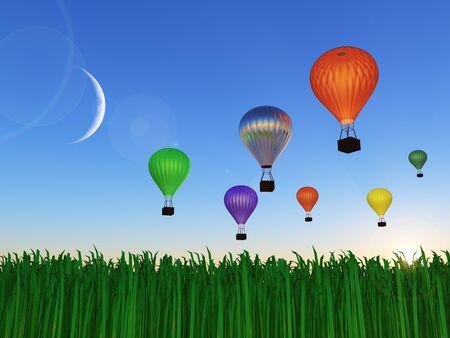 adventure aeronautical: Hot Air Balloon in Sky