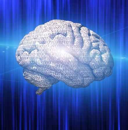 computer art: Binary brain