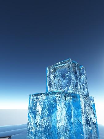 stock agency: Cubetti di ghiaccio Archivio Fotografico