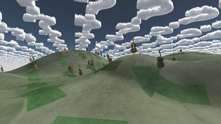 unreal unknown: Question clouds over surrreal landscape