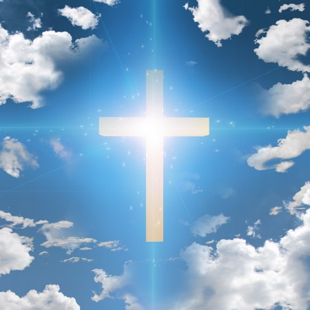 geloof hoop liefde: Kruis Abstract