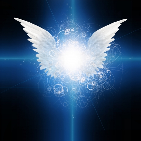 Angel winged photo