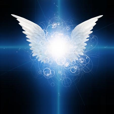 espiritu santo: Ángel con alas