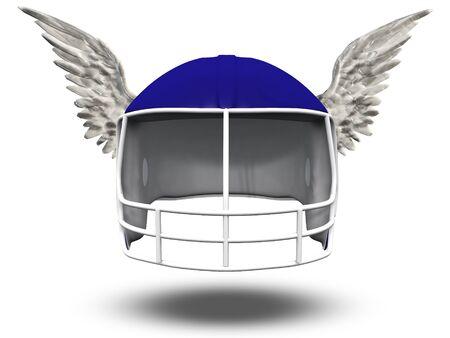 football helmet: Winged Football Helmet