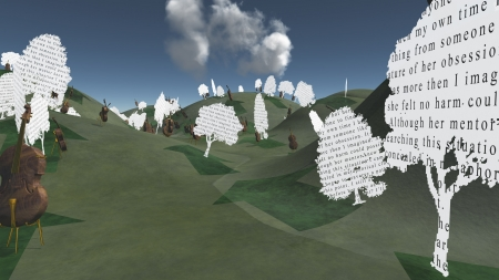 Paper trees with text and Cellos sit in hilly landscape Text is my own Stock Photo - 18535027