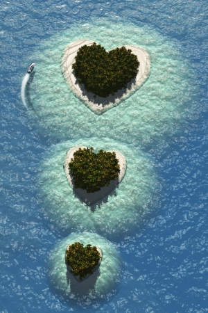 Heart Islands Stock Photo - 18535051