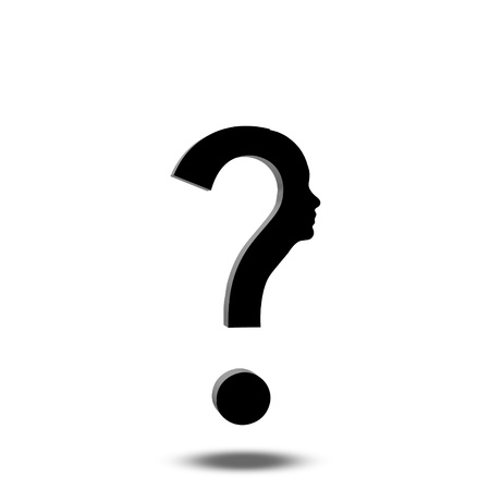 Question Mark Human Stock Photo - 18534998