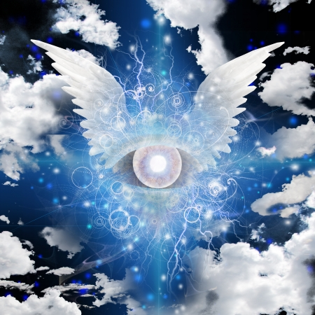 rosicrucian: Winged Eye Stock Photo