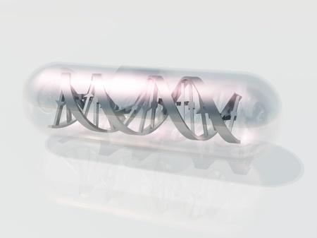 gene on a chromosome: DNA Capsule