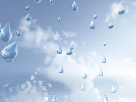 yağmurlu: Gökten düşen yağmur damlaları Stok Fotoğraf