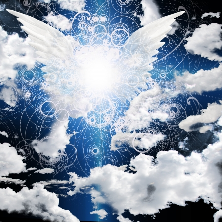 angel de la guarda: Ángel con alas