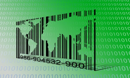 World Binary Barcode Stock Photo - 19122600
