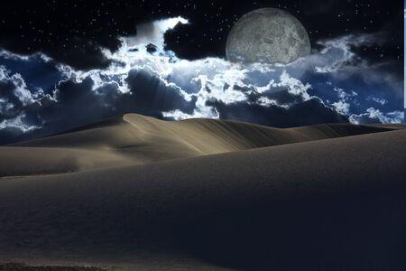 unrealistic: Desert night Stock Photo