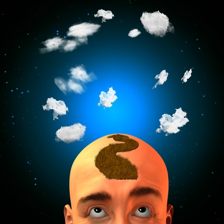 Arrow head mohawk with clouds Stock Photo