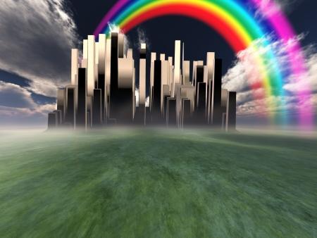 Heavenly City Stock Photo