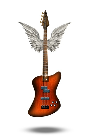 Guitar winged photo