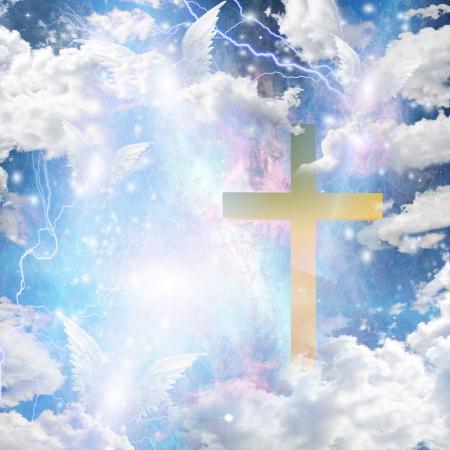 천사는 십자가 날개