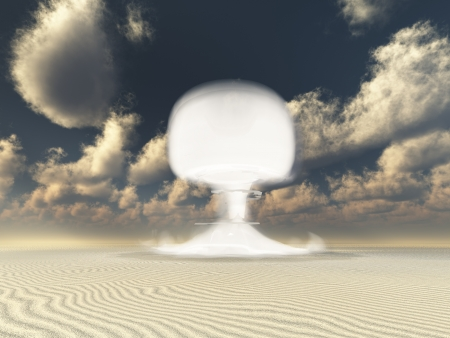 Nuclear detonation in Desert photo