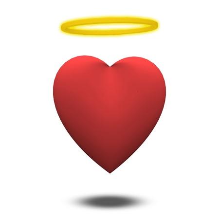 Angellic or innocent heart Stock Photo - 19687700