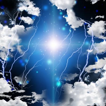 simbolos religiosos: Cruz abstracta con arcos eléctricos