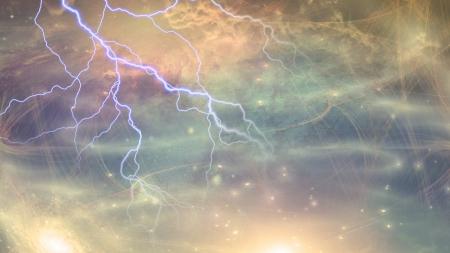 estrellas moradas: Escena del espacio profundo