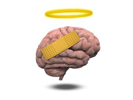 Hurt cerveau avec un halo Banque d'images - 19687717