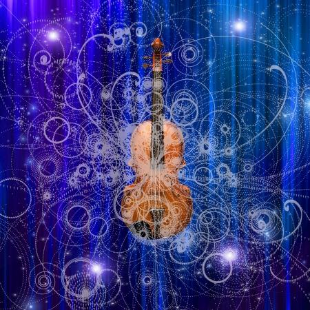 symphonic: Violin Design Stock Photo