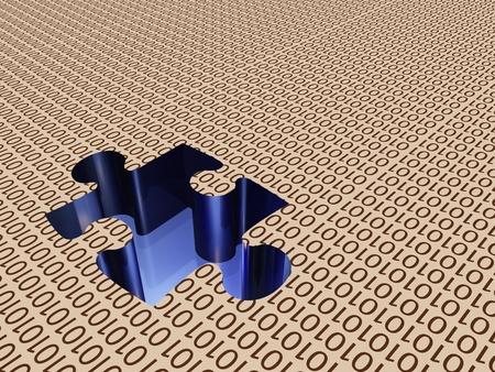 Binary puzzle photo