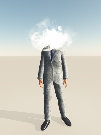 Businessman with cloud for head photo