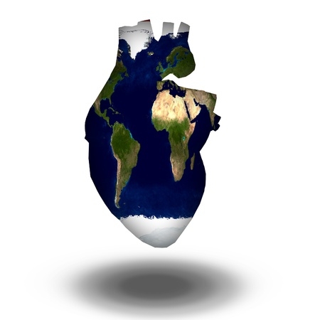 international recycle symbol: Earth Heart