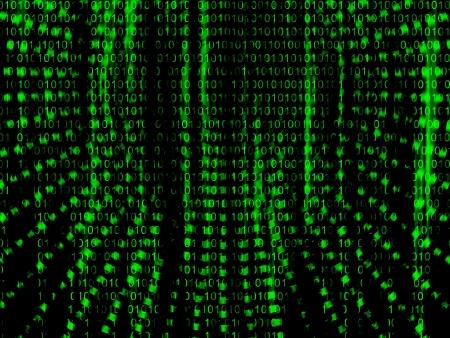 Binary code streaming  photo