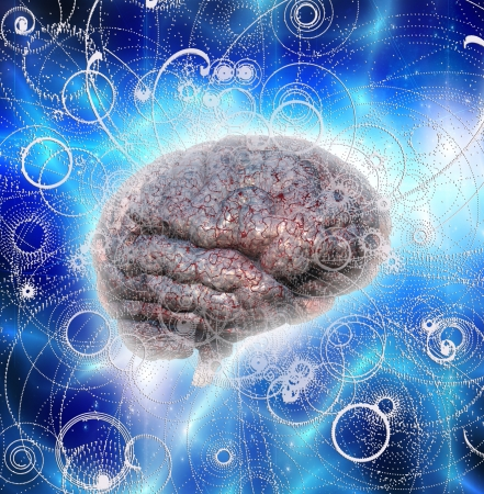 Gehirn Radiates Standard-Bild