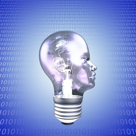 intelligent solutions: Head Light Bulb with Binary