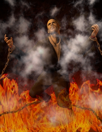 hellfire: Man Chained in Hell