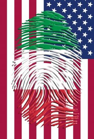 united states flag: Italian American Identity Stock Photo