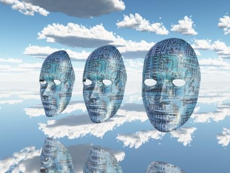 clones: Machine faces
