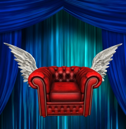 Winged comfort chair Reklamní fotografie - 20167897