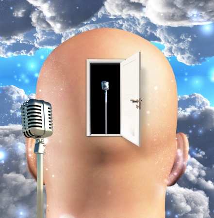musical theater: Microphone inside mind