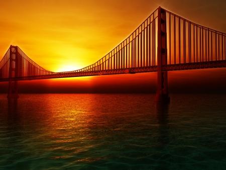 francisco: Golden Gate Bridge Painterly Illustration